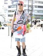 Alice Black's Norimi w/ Pink Hair & Punk Jewelry in Harajuku