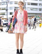 Ayaka's Forever 21 Print Romper & Converse Sneakers