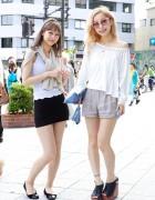 Loves Top & Adam et Rope Shorts vs. Lily Brown Shell & H&M Miniskirt