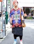 Guy's Popular Sperm Show Skirt & Jeremy Scott x Adidas Sneakers