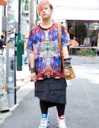 Guy's Popular Sperm Show Skirt & Jeremy Scott x Adidas Sneakers