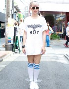Avantgarde Harajuku's Hanna w/ Pink Braids & Winged Rocking Horse Shoes