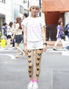 Kissy from Nadia Harajuku w/ Short Bob, Tattoo Tights & Platform Converse