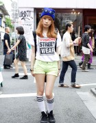 Vision Street Wear T-Shirt, Cutoff Shorts & Star of David Accessories