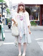 Seashell Necklace & Vintage Fashion From The Virgin Mary in Harajuku