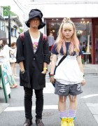 Pink-streaked Hair, Oversized Hat & Nike Sneakers In Harajuku