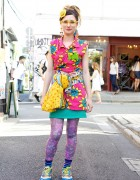 Colorful Harajuku Street Style w/ Party Baby, Village Vanguard & Kinji