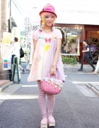 Kumamiki w/ Rainbow Hair, Bows & Cute Party Baby Shrimp in Harajuku