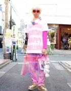 "Junnyan in Harajuku w/ 6%DOKIDOKI ""Kawaii Anarchy"" & Gold Creepers"