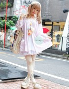 Angelic Harajuku Girl in Pink Grimoire Dress & Rocking Horse Shoes