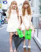 Harajuku Friends Wearing Liz Lisa & One Spo Girly Pastel Dresses