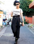 Chanel, High Waist Pants & Belly Button Platform Shoes in Harajuku