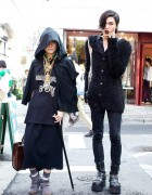 Harry Potter Inspired All-Black Halloween Fashion in Harajuku