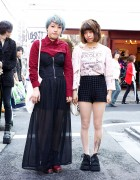 Sheer Skirt & Shorts w/ Tattoo Tights & Boots in Harajuku