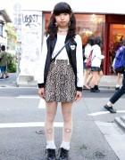 Twin Tails w/ Spinns Harajuku Skirt, Nadia Jacket & Shirley Temple