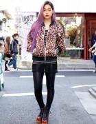 Ombre Purple Hair w/ Flame Shoes, Joyrich Animal Print & Chanel