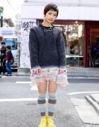 Tokyo Bopper Minami's Nozomi Ishiguro Sweater, Crochet Jewelry & Striped Socks