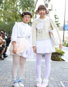 Tokyo Fashion Students in White w/ Kawaii Pastel Accents