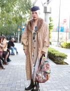 Die Antwoord Fan w/ Piercings, Shibuya Frontier Platforms & Graphic Coat