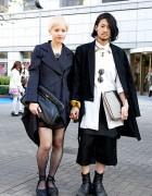 Stylish Tokyo Couple w/ Ann Demeulemeester, Trussardi & Mawi Jewelry