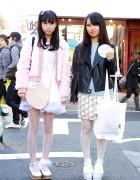Harajuku Girls in Faux Fur, Cat Print & Platforms w/ Nadia, Katie & Kinji