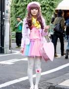 6%DOKIDOKI Tulle Skirt w/ Nile Perch Jacket & Teddy Bear Scarf