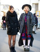 Tokyo Girls in Dazzlin & Comme des Garcons w/ Rocking Horse Shoes & Cowl