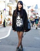 Monomania Hoodie, AvantGarde Harajuku Stockings & Boy London Creepers