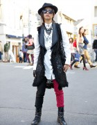 VAMPS Fan in Harajuku w/ Black Peace Now, Algonquins & Spike Earring