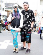 Mademoiselle Yulia in Jeremy Scott & GIZA on the street in Harajuku w/ KTZ's Mathew