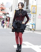 Alice Auaa Gothic Fashion w/ Feather Collar in Harajuku
