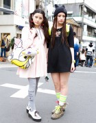 Amoyamo Fans w/ Baby Doll Dresses, Tailed Boots & Daisy Duck in Harajuku