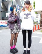 Nadia Harajuku Staffers w/ Blue Hair, Boy London, Cannabis & Vivienne Westwood