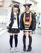 Kill Star Zombie Crop Top, Garter Leggings & Winged Backpack in Harajuku