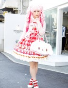 Kawaii Pink Twintails & Baby The Stars Shine Bright Gingham in Harajuku