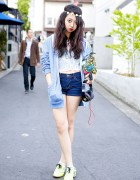 Mayupu in Harajuku w/ Sequin Top, Shorts & Betsey Johnson Bling Bling Clutch