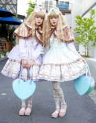 Lolita Twins w/ Angelic Pretty & Baby The Stars Shine Bright in Harajuku