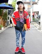 Harajuku Resale Style w/ Troop Jacket, WEGO LAB & Pin Nap