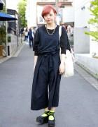 High Waist Wide Leg Pants, Neon Socks & Tokyo Bopper in Harajuku