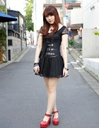 Harajuku Rock Girl Style w/ Black Lace, Corset, Listen Flavor & Iron Fist