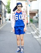 Harajuku Guy's Long Visor Cap w/ Varsity Top, Vintage & Gucci