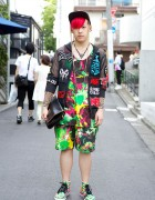 Harajuku Guy w/ Pink Hair Sixpack x PMKFA, KTZ & Space Tribe