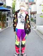 Anarchy Mickey Mouse w/ Dog Harajuku & Spike Flip Flops