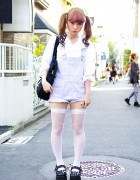 Kawaii Harajuku Style w/ Ombre Twintails, Fishnet Thigh Highs & Candy Stripper