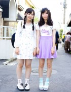 Cute Pastels, Cat Print, Barbie Heart Bag & Merletto in Harajuku