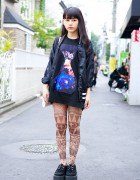 Space Print, Tattoo Tights, Namaiki Bag & Nadia Harajuku Creepers