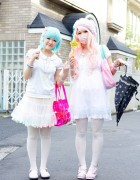 Fairy Kei Girls w/ Nile Perch, Pastel Hair & Hello Kitty in Harajuku