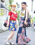 Harajuku Girls w/ Cartoon Print, Colorful Hair, Panama Boy & Betty Boop