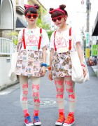 Hennyo Girls w/ Matching Heart Sunglasses, Melon & Lactose Intoler-art