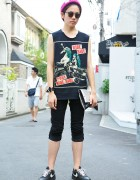 "Lady Gaga ""Ride Ride Pony"" Remake T-Shirt & Silver Clutch in Harajuku"